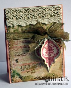 Stamps: Heirloom Ornaments by Gina K Designs papers: Webster's Pages