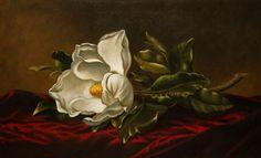 Still life Original oil painting Magnolia by MarcosArtPainting