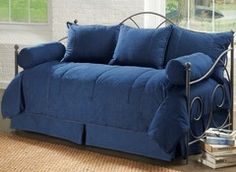 American Denim Daybed Cover Set including bolsters