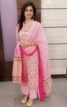 Get this Beautifull punjabi Salwar Suit Made visit us at… Punjabi Salwar Suits, Designer Punjabi Suits, Indian Designer Wear, Pakistani Dresses, Indian Dresses, Salwar Kameez, Sharara, Patiala, Punjabi Fashion