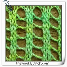 The Weekly Stitch: Twisted Ladder Stitch Types Of Knitting Stitches, Knitting Videos, Arm Knitting, Knitting Charts, Knitting Projects, Crochet Stitches, Knitting Patterns, Crochet Patterns, Knitting Basics