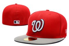 MLB Washington Nationals 59Fifty Hats Retro Classic Pop Caps Red