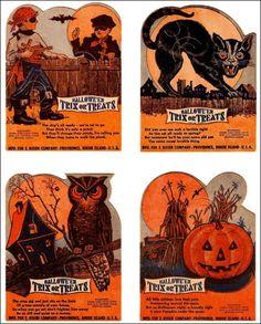 Halloween Vintage Treat Cards