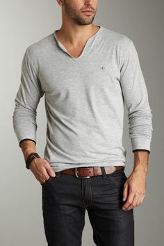 7 Diamonds Grey Instant Moment Henley