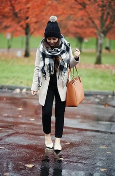 black-hat-with-tan-coat-checkered-scarf-2