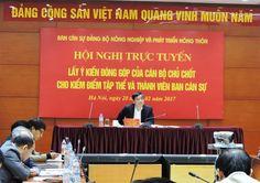 """Bộ trưởng Nguyễn Xuân Cường tại hội nghị truyền hình""""Vì sự phát triển chúng ta không ngại gì cả"""""""