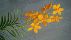 ABC TV   How To Make Buffalo Orange Mokara Orchid Paper Flowers From Cre...