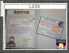 Teaching with Blonde Ambition: Grade Language Interactive Notebook Interactive Writing Notebook, Interactive Journals, Readers Notebook, Readers Workshop, 2nd Grade Ela, Grade 2, Second Grade, Reading Notebooks, Writing Skills
