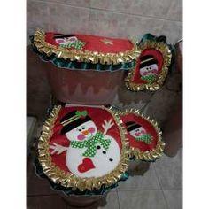 Juego De Baño Bordado 3 Pzs Lencería - Bs. 198.500,00 Christmas Clay, Christmas Crafts, Merry Christmas, Christmas Decorations, Holiday Decor, Felt Crafts, Diy And Crafts, Dory, Own Home