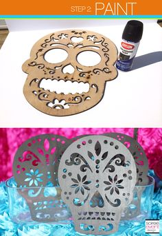 Trend Alert: DIY Day of the Dead Sugar Skull Party Decorations // Hostess with the Mostess® Sugar Skull Crafts, Sugar Skull Decor, Sugar Skull Halloween, Sugar Skull Art, Sugar Skulls, Skull Decor Diy, Diy Day Of The Dead, Day Of The Dead Party, Diy Party Decorations