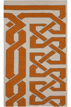 Orange & interesting. #HDCrugs HomeDecorators.com