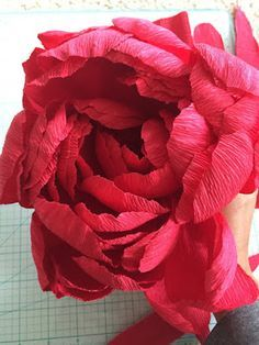 Giant Valentines Day Peony - A Carte Fini tutorial by Roya's Creations | Carte Fini