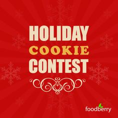 'Tis the season for Holiday Cookies! If you're baking this season, we want to see your creations.   Share you best #holiday #cookie #recipe on Foodberry (foodberry.com/contest) for a chance to win one of THREE $100 #Etsy Gift Cards!   #baking #christmas #cookies #contest