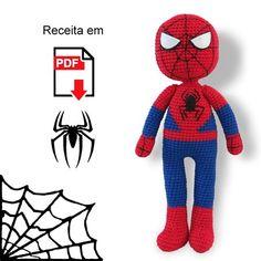 Best 10 We process the spider before it comes to the reduction. Crochet Patterns Amigurumi, Amigurumi Doll, Crochet Dolls, Giraffe Toy, Giraffe Pattern, Spiderman, Superhero Boys Room, Crochet Batman, Crochet Doll Tutorial