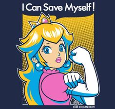 Save Myself T-Shirt - Princess Peach T-Shirt is $11 today at Ript!