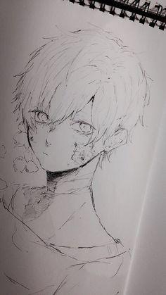 Anime Drawings Sketches, Pencil Art Drawings, Anime Sketch, Cool Drawings, Pretty Art, Cute Art, Arte Do Kawaii, Inspiration Art, Arte Sketchbook