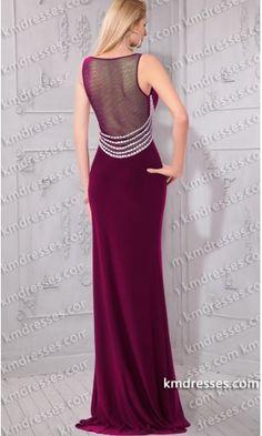Elegant Illusion open back High slit Pearl Trim dress.prom dresses,formal dresses,ball gown,homecoming dresses,party dress,evening dresses,sequin dresses,cocktail dresses,graduation dresses,formal gowns,prom gown,evening gown.