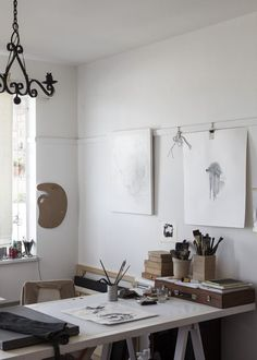 An Artist´s studio #desk #art #painting