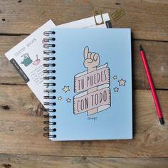 Libreta Tú puedes con todo. Diseño de Mr.Wonderful. A la venta en: http://www.mrwonderfulshop.es