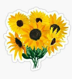 "sunflower bouquet' Sticker by Ilze Lucero ""Painted sunflower bouquet"" Stickers by Ilze Lucero Stickers Cool, Diy Sticker, Red Bubble Stickers, Tumblr Stickers, Phone Stickers, Printable Stickers, Planner Stickers, Mac Stickers, Snapchat Stickers"