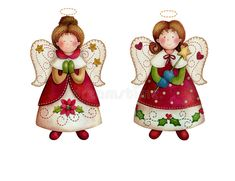 Christmas Scenes, Christmas Angels, Kids Christmas, Christmas Ornaments, Angel Theme, Angel Drawing, Ceramic Angels, Winter Images, Angel Cards