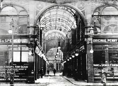 Leeds Cross Arcade: A picture of the market stall in the early 1900s