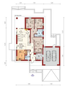 DOM.PL™ - Projekt domu AC Daniel IV G2 CE - DOM AF9-57 - gotowy koszt budowy Village House Design, Village Houses, House Construction Plan, House Plans, Floor Plans, How To Plan, Modern, Home, Ideas