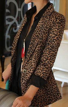 #Zalando ❖ #Imprimes // #leopard #blazer