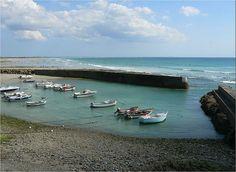 Le petit port de Penhors, au nord du pays bigouden, Finistère