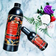 Tesori d'Oriente Japanese Rituals perfume and shower gel - review | Eva Luna Perfume, Laundry Detergent, Shower Gel, Vodka Bottle, Packaging Design, Beauty Makeup, How To Make, Bloom, Organization