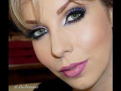 Maquiagem rosa e azul, com Luciane Ferraes