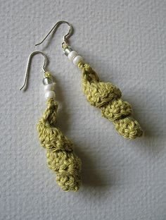 crochet earrings - would be pretty done up in metallic thread