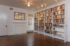 love the handmade bookshelves