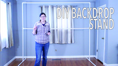 Learn how to make a PVC Pipe Backdrop for your next party. easy to assemble and turn any space into a party. Photo booth backdrop