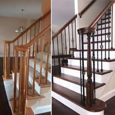 Before and After. A simple update can make all the difference! #coreybuilt4u @bucksmontnari #building #house #home #architecture #🏠 #🏫 #🚧 #🆕 #☀️ #👨‍👩‍👦 #🚪 #structure #estate #hgtv #fixerupper #baluster #interior #railing #🛏 #modern #architecture #construction #interiordesign #architecturelovers #igtv