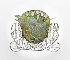 Charles Robert Ashbee, Marsh-bird brooch, 1901-02.  prime mover of the Arts and Crafts movement that took its craft ethic from the works of John Ruskin.