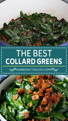 Collard Greens With Bacon, Southern Style Collard Greens, Side Dish Recipes, Vegetable Recipes, Dinner Recipes, Mexican Food Recipes, Ethnic Recipes, Vegetable Side Dishes, Soul Food