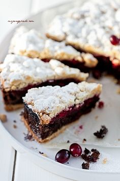 Poppy Seed Flaky Pastry with Cranberry Jam Polish Desserts, Polish Recipes, Cookie Desserts, Cookie Recipes, Dessert Recipes, Polish Food, Flaky Pastry, Sweet Pastries, Pudding Cake