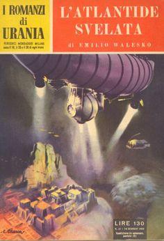31  L'ATLANTIDE SVELATA 10/1/1954   Copertina di  C. Caesar   EMILIO WALESKO