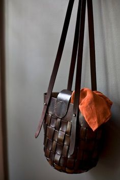 Bag 14 (custom made; leather is hand died & hand stitched) | abknyc.com
