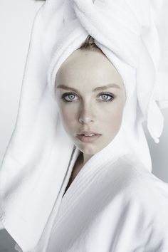 towel series by Mario Testino— Edie Campbell