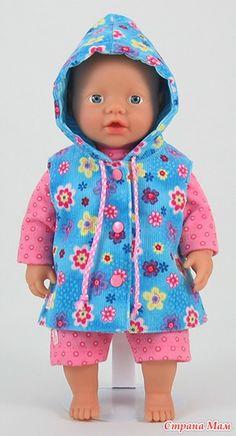 Одежки для BABY born - Гардероб для куклы - Страна Мам Sewing Doll Clothes, Crochet Doll Clothes, Sewing Dolls, Girl Doll Clothes, Girl Dolls, Baby Dolls, Dress Clothes, Diy Clothes, Baby Girl Dress Patterns