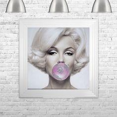 'Marilyn Gum' Framed Graphic Art Print East Urban Home Vintage Wall Art, Vintage Walls, Frames On Wall, Framed Wall Art, Marilyn Tattoo, Painting Prints, Art Prints, Canvas Art, Canvas Prints
