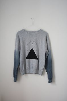 L   THE PYRAMID N.2   new age dip dye sweater   by theholybunch c2627bdce30c