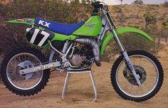 1987 Factory Kawasaki SR125 of Eddie Warren