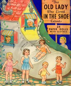 The Old Lady Who Lived In The Shoe 1940 Whitman #985