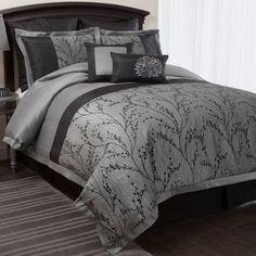 Lush Decor Flower Texture 8-piece Silver Comforter Set - Overstock™ Shopping - Great Deals on Lush Decor Comforter Sets