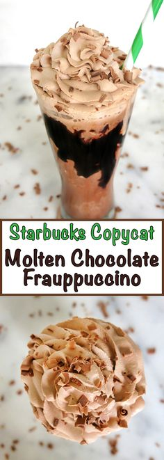 This tasty Starbucks copycat recipe includes chocolate, coffee, chocolate chips, and chocolate espresso whipped cream topping. Perfect for chocoholics!