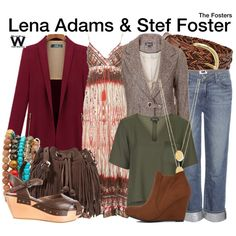 Inspired by Sherri Saum & Teri Polo as Lena Adams & Steph Foster on The Fosters.