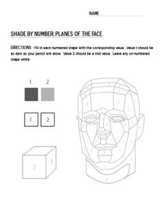 Portrait Drawing face value worksheet - Visit the post for more. Value Drawing, Drawing Lessons, Art Sub Plans, Art Lesson Plans, Teaching Drawing, Teaching Art, Middle School Art, Art School, High School